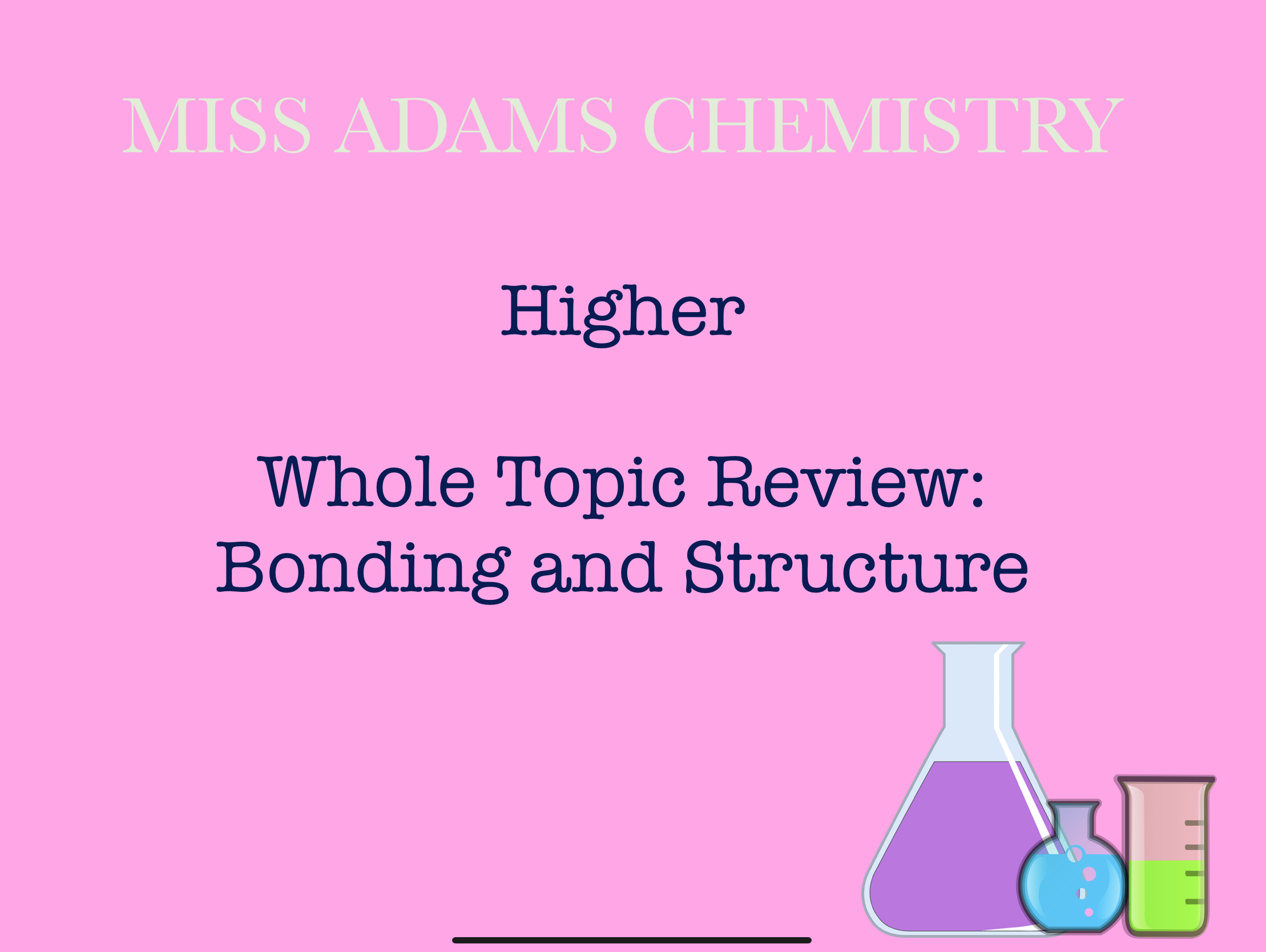 image from Bonding and Structure Whole Topic Review