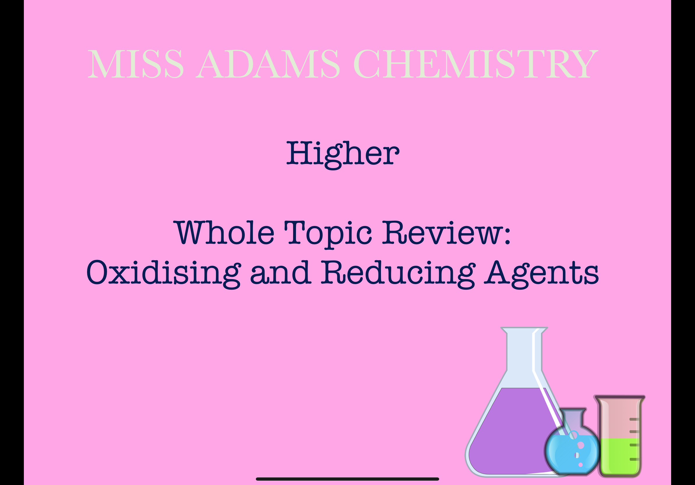 image from Oxidising and Reducing Agents Whole Topic Review